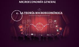 LA TEORÍA MICROECONÓMICA