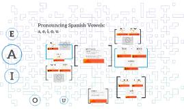 Pronouncing Spanish Vowels: