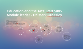 Education and the Arts: Perf 5005