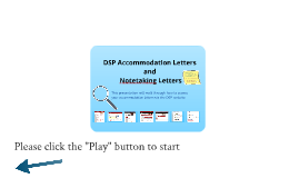 DSP Accommodation Letters