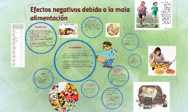 Efectos negativos producidos por una mala alimentación