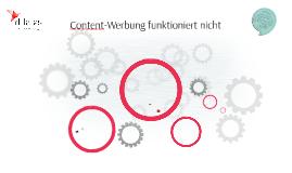 Content-Werbung funktioniert nicht