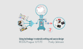 Using technology in materials writing and course design