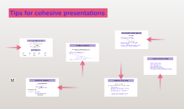 How to present as a group