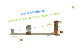 Water Distributor