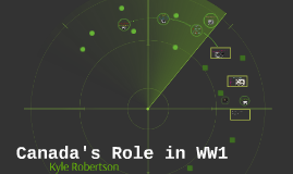 Canada's Role in WW1