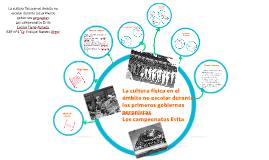 CULTURA FISICA EN EL PRIMER PERONISMO: CAMPEONATOS EVITA