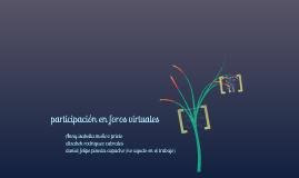 Copy of participacion en foros virtuales