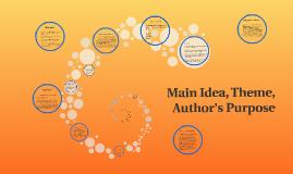 Main Idea, Theme, Author's Purpose