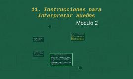 11. Instrucciones para Interpretar Sueños