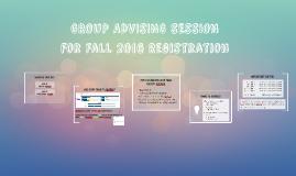 Group Advising Session for Spring 2016 Registration