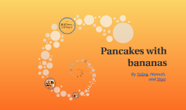 Pancakes with bananas