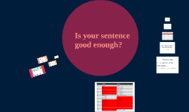 Is your sentence good enough?
