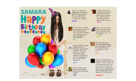 Happy Birthday Samara!!!