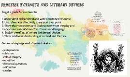 PRACTIse EXTRACTS AND LITERARY DEVICES