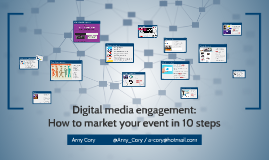 Digital media engagement: How to market your event