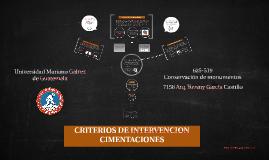 Criterios de intervención Cimientos