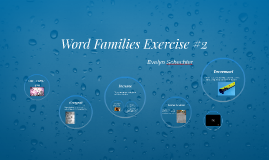 Word Families Exercise #2