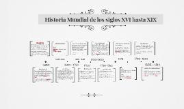 Historia Mundial de los siglos XVI hasta XIX