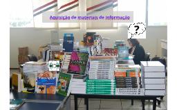Aquisição de materiais de informação