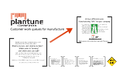 Plantune - Customer work queues for manufacture