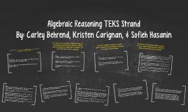 Algebraic Reasoning TEKS Strand