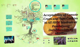 Acceptability of Camote Crops and Tops Cookies to All HRM St
