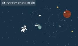 Especies en extincion