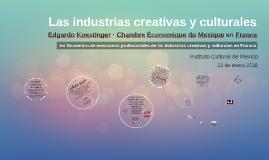 Las industrias creativas y culturales - EICC 2018