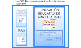 Fundamentos prácticos de la Innovación Educativa