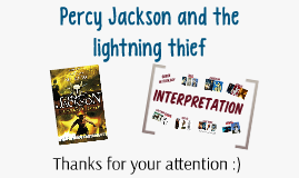 Percy Jackson and the Lightning Thief - Bookpresentation