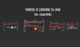MINIERE DI CARBONE IN CINA