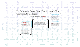 Performance Funding and Ohio Community Colleges