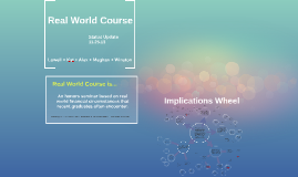 Experiential real world course is offered as an honors semin