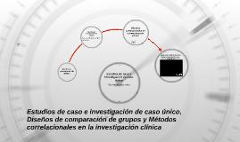 Estudios de caso e investigación de caso único, Diseños de comparación de grupos y Métodos correlacionales en la investigación clínica