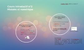 Cultures numériques L2 Cours d'intro n°2
