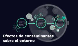 Copy of Efectos de contaminantes sobre el entorno