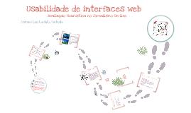 Copy of Usabilidade de interfaces