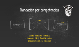 Planeación por competencias