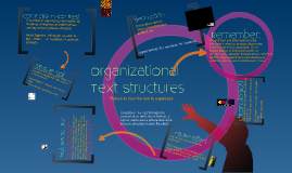 Copy of Copy of Organizational Text Structures