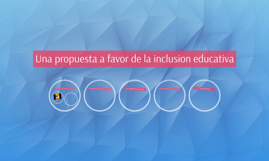 Una propuesta a favor de la inclusion educativa