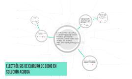 Copy of ELECTRÓLISIS DE CLORURO DE SODIO EN SOLUCIÓN ACUOSA
