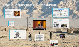 Female Literacy Rates in Afghanistan