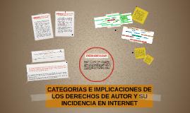 CATEGORIAS E IMPLICACIONES DE LOS DERECHOS DE AUTOR Y SU INC