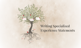 Writing Specialized Experience Statements