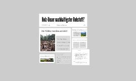 Copy of Holz-Unser Nachhaltigster Stoff?