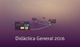 Didáctica General 2016