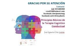 Principios Básicos de la Terapia Cognitivo Conductual