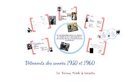 Vetements des annees 1950 et 1960