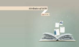 Attributes of GOD!